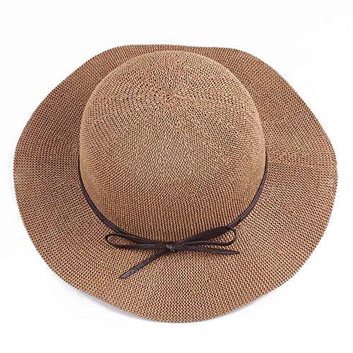 CattleBie Chapeau de soleil femmes en plein air coureur chapeau chapeau ombre chapeau paille à tricoter chapeau été chapeau extérieur pêche soleil protection UV chapeaux randonnée plage chapeau de gol