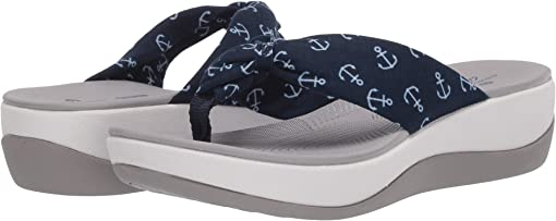Navy Textile/White Anchors