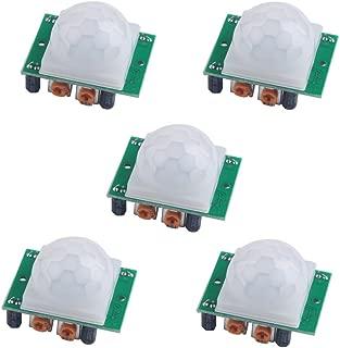 Geekstory HC-SR501 Pir Pyroelectric Infrared PIR Sensor Body Motion Sensor Modules for Arduino (Pack of 5pcs)