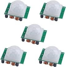 5PCS HC-SR501 PIR Infrared IR Sensor Human Body Motion Module Pyroelectric for Arduino Raspberry Pi Microcontroller