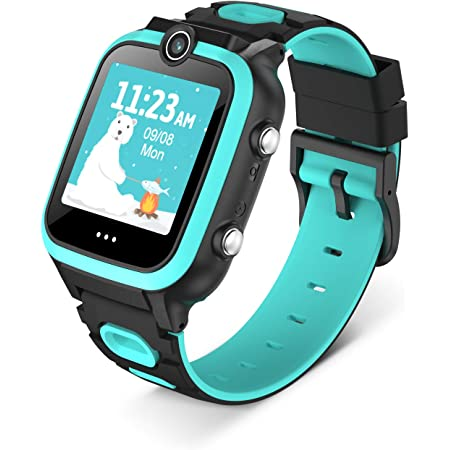 Tenflyer Kids All-in-one Smartwatch for Boys Girls Age 3-12 Dual Camera Touchscreen Smart Watch for Kids with Music Player (Build-in 4G TF) - Kids Smart Watch for Children Gifts