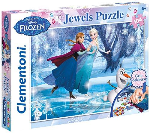 Clementoni 20601.8 - Jewels Puzzle - Frozen, 104-Teilig