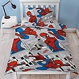 Spiderman - Funda de edredón para Cama Individual, diseño de Paisaje de la...