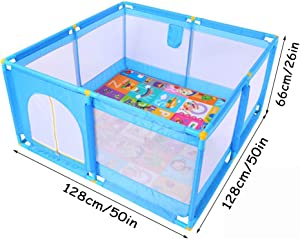 Square Playpens Baby Fence Household Shatter Resistant Toys House Children S Safety Playards with Puzzle Play Mats for Baby and Toddlers