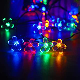 mankinlu Solar String Lights Outdoor,Waterproof Solar Powered Cherry Blossom Lights String,39FT 100LED Christmas Twinkle L...
