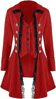 iLXHD Men`s Coat Tailcoat Jacket Gothic Frock Coat Uniform Costume Praty Outwear