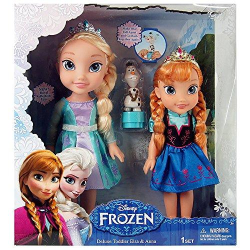 Jakks PacificDisney Frozen Deluxe Toddler Elsa and Anna Dolls