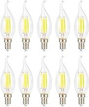 10-Pack LED Small Edison Screw Candle Light Bulbs,6500K Cold White,360 Degree Beam Angle,Retrofit Classic LED Light