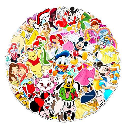 WYDML Dibujos Animados de la Princesa de Disney Anime Graffiti Pegatinas Equipaje de los niños teléfono del Coche Pegatinas Decorativas Impermeables 50 Uds