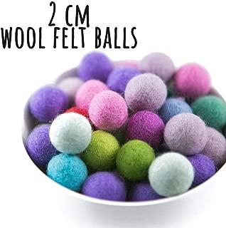 Lovable Ponytail 100% Wool Felt Balls - Felt Ball Garland DIY - 2cm (50, Pick Your Own Color)