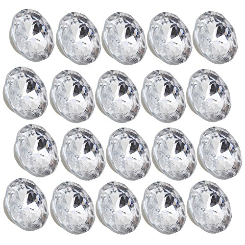 Botones redondos de cristal, para tapicería, 20 piezas de 20 mm de diámetro.