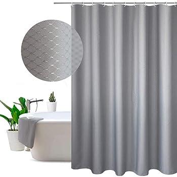 Amazon Com Extra Wide Fabric Shower Curtain 108 X 72 Inch Waffle