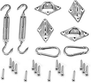 Ankuka Sun Shade Sail 304 Stainless Steel Hardware Kit 6 Inch for Rectangle/Squre Shade Sail Installation