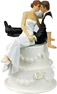 Syndecho Romance Wedding Cake Topper Wedding Figure Bride and Groom-Wedding Decoration