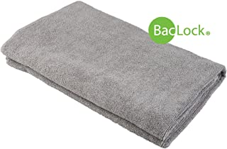 Norwex Antibacterial, Antimicrobial, Microfiber X-Large Bath Towel with BacLock (Graphite)