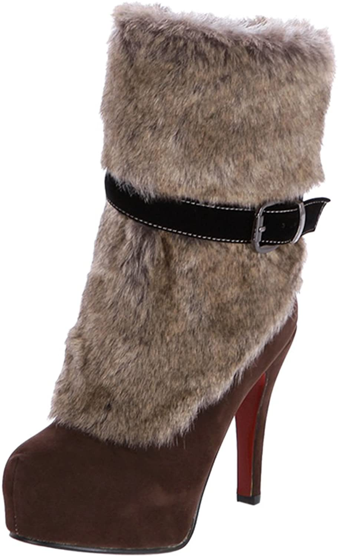 RizaBina Women Fashion Party Boots Zipper