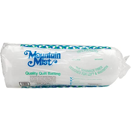 Mountain Mist Polyester Quilt Batting, Twin 72-inch-by-90-inch