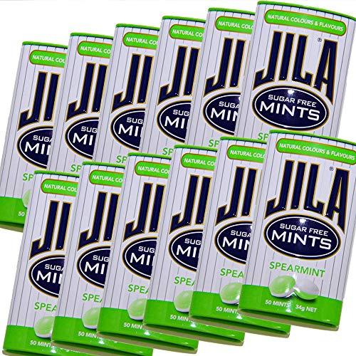 ジラ JILA ミントタブレット スペアミント 34g 12缶セット 送料無料 少し大きめ粒 海外