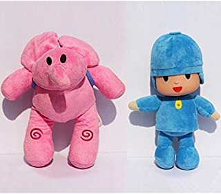 "Bailey Pocoyo Plush 12"" / 30cm Pocoyo & Elly 2pces Set Doll Stuffed Animals Figure Soft Anime Collection Toy"