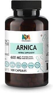 Arnica Extract 100 Vegan Capsule, 600MG Per Capsules (Arnica Montana)