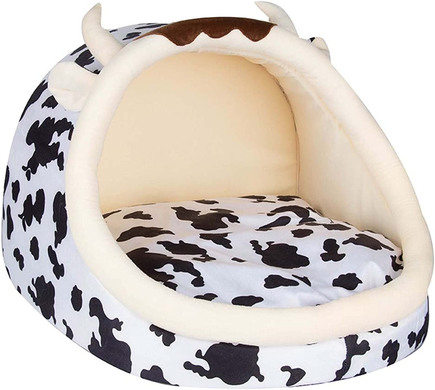 Pet nest Kitten Puppy Pet Bed Cute Leopard Shape Washable Suitable for kittens and other small pets