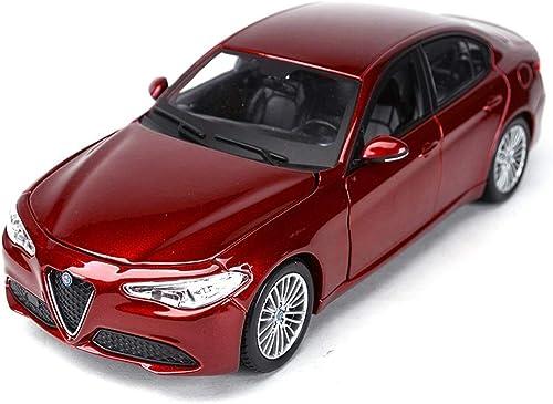 YaPin 1 24 Alfa Romeo Giulia Alliage Simulation Original Modèle De Voiture Décoration Collection Cadeau Décoration 19x8.5x5.8 CM Modèle De Voiture ( Couleur   Wine rouge )