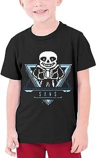 Undertale Sans Youth Boy's&Girl's Comfortable Short Sleeve T-Shirt Black