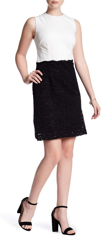 Betsey Johnson Women's Contrast Lace Sheath Dress