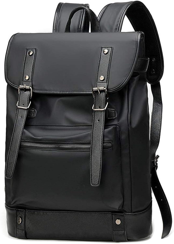 New Business Men's Laptop Bag Casual Men's Backpack Fashion Men's Backpacks (color   Black, Size   15.6 inches)