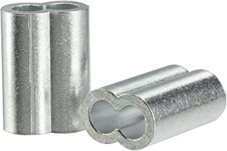 uxcell 10mm 3/8-inch Cable Wire Rope Aluminum Sleeves Clip Crimping Loop 5pcs