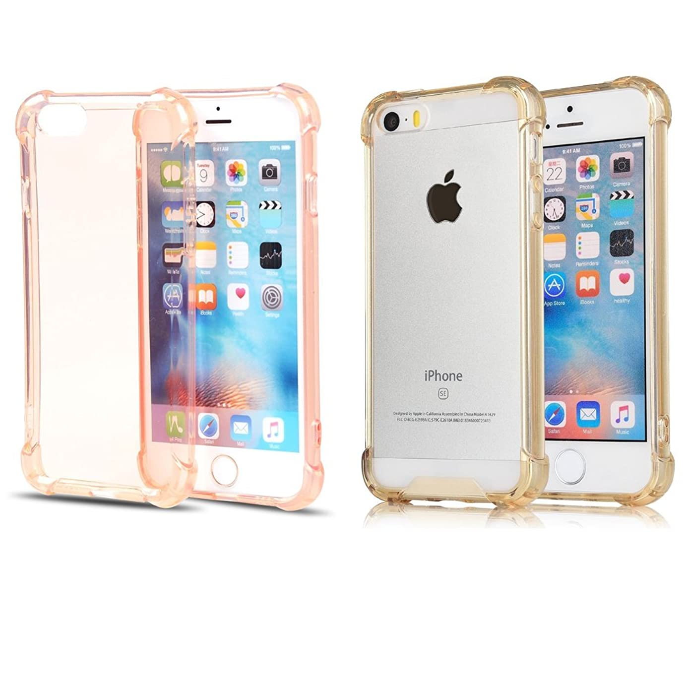 iPhone 6S Plus Case iPhone 6 Plus Case, [2 Pack]CaseHQ Transparent Clear Enhanced Grip Protective Defender cover Soft TPU Shell Shock-Absorption Bumper Anti-Scratch Clear Back Air Cushioned 4 Corners