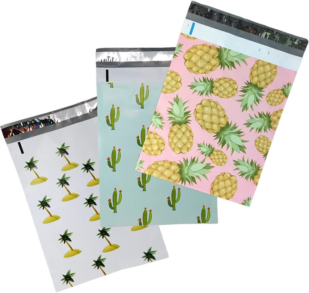 Max 83% OFF 10x13 Designer Tropical Poly Seattle Mall Mailers Pink Combo Pack Pineapple