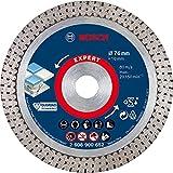 Bosch Professional 1x Disques à tronçonner diamantés 76 mm Expert HardCeramic (pour Carrelages durs, Pierre dure, Ø...