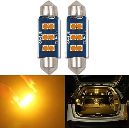 2PCS SODIAL Led Bombillas para El Coche Canbus T10 27SMD 3014 12V 10W 1000lm CANBUS Incorporado Y Disipador De Calor para Luz Interior T10 27SMD 3014 Luz De Techo