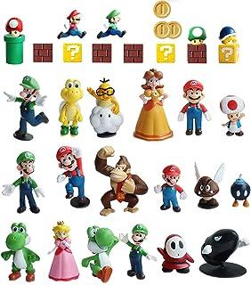 Pantyshka 33 PCS Super Mario Action Figures,Super Mario Bros Toys Figurines Peach Daisy Princess,Luigi,Yoshi,Mario Toys fo...