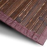casa pura Bambusteppich Oak | für Bad und Wohnzimmer | natürlich wohnen Bambus | Bambusmatte in vielen Größen (150x200 cm)