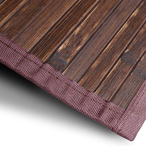 casa pura Bambusteppich Oak | für Bad und Wohnzimmer | natürlich wohnen Bambus | Bambusmatte in vielen Größen (90x120 cm)
