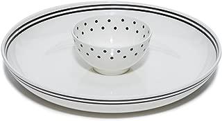 Kate Spade New York Women's 2-Piece Melamine Chip and Dip Serving Bowl Set, (Black Dots) Raise a Glass