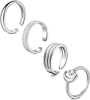 LAURITAMI Beach Vaction Toe Rings Set Tail Ring Adjustable Toe Ring Summer