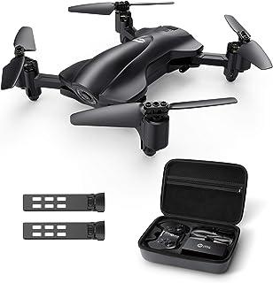 Holy Stone ドローン カメラ付き GPS搭載 折り畳み式 200g未満 小型 収納ケース付き バッテリー2個 飛行時間30分 セルフィー 1080Pカメラ付き 生中継可能 高度維持 国内認証済み モード1/2自由転換可 HS165
