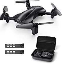 Holy Stone HS165 Drone with Camera, GPS, Foldable, Less than 7.1 oz (200 g), Small Size, Storage Case Included, 2 Batteries, 30 Minutes Flying Time, Selfie, 1080P Camera, Live Relay Altitude Hold, Domestic Certified Version, Freely Switchable Modes 1/2