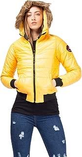 Momo&Ayat Fashions Ladies Faux Fur Hood Cropped Padded Jacket AUS Size 8-14