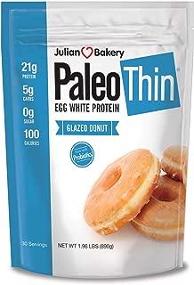 Julian Bakery Paleo Protein Powder, Glazed Donut Keto/Low Carb, 1.96 Pound (Pack of 1)