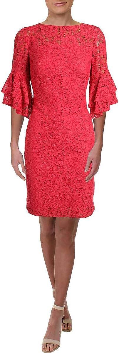 Lauren by Ralph Lauren Women's Lace Bell-Sleeve Dress