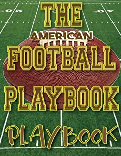 The American Football Playbook PLAYBOOK: 8.5x11 100 Pages Matte Finish Blank Football Field Templates
