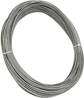 Seilwerk STANKE Corda dAcciaio Acciaio Inossidabile 5 mm 7x19 Corda in Acciaio Inossidabile Inox V4A A4 60 m