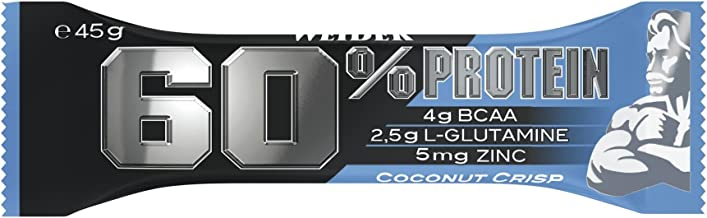Weider 60 Protein Bar Coconut Crisp 27g of Protein Low Carb Low Sugar 24 bars Estimated Price : £ 38,30