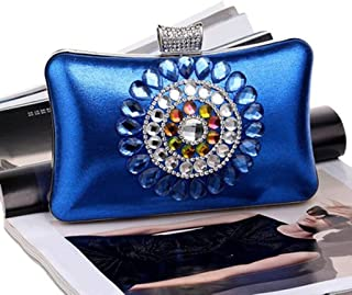 LEOO Womens Crystal Evening Clutch Bag Wedding Purse Bridal Prom Handbag Party Bag. (Color : E)