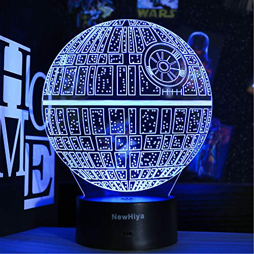 3D Star Wars Night Light, 16 Colors Changing Night Lights with Remote & Smart Touch, Christmas and Birthday Gifts for Kids and Star Wars Fans (Death Star)