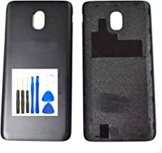 Battery Door for Samsung Galaxy J3 2018 – Black Battery Door Battery Cover for J337A Express Prime 3 J3 2018 J3 Achieve 2018 J337P SM-J337V J337T J337A J337P with Opening Tool (Fit for All Verzion)